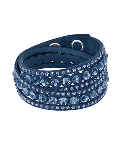 Swarovski Slake Swarovski Crystals Dot Bracelet-BLUE-One Size