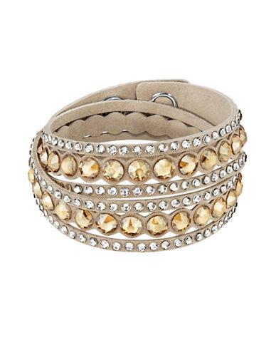Swarovski Slake Swarovski Crystals Dot Bracelet-LIGHT BEIGE-One Size