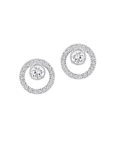 Swarovski Creativity Crystal Circle Small Pierced Earrings-SILVER-One Size