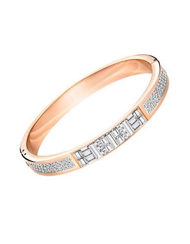 Swarovski Ethic Swarovski Crystals Rose Goldplated Bangle-ROSE GOLD-One Size