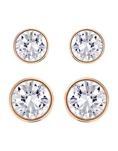 Swarovski Harley Crystal Medium Pierced Earrings Set-NATURAL-One Size
