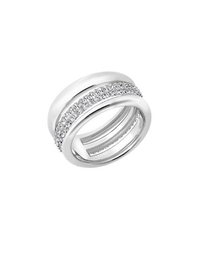 Swarovski Exact Swarovski Crystal Rhodium-Plated Ring-CRYSTAL-7