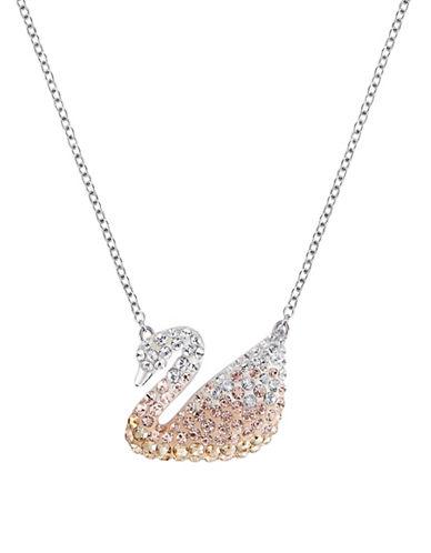 Swarovski Iconic Crystal Swan Pendant-CRYSTAL-One Size