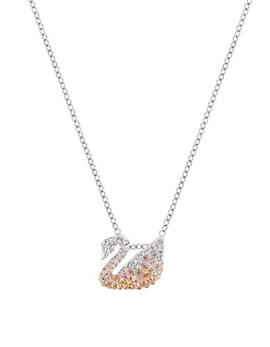 Swarovski Iconic Small Crystal Swan Pendant-GOLD-One Size