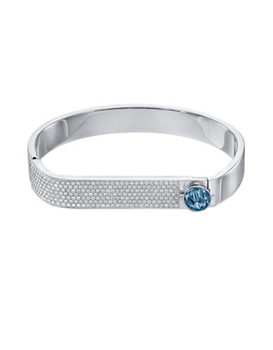 Swarovski Forward Crystal Pave Bangle Bracelet-BLUE-One Size