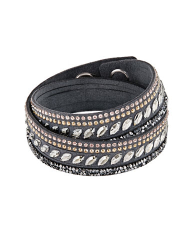 Swarovski Slake Pulse Wrap Bracelet-GREY-One Size