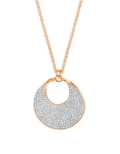 Swarovski Freedom Round Pendent Necklace-ROSE GOLD-One Size