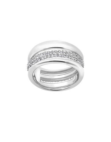 Swarovski Exact Crystal Pave Ring-SILVER-8