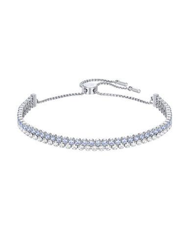 Swarovski Subtle Crystal Bracelet-SILVER/BLUE-One Size