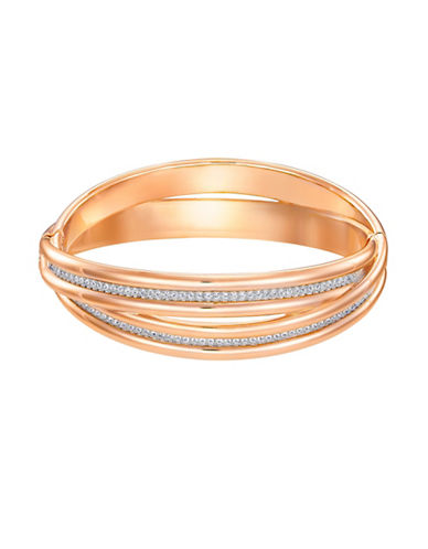 Swarovski Further Crystal Bangle-ROSE GOLD-One Size