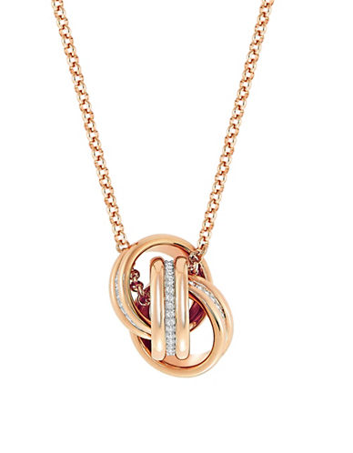 Swarovski Further Crystal Pendant Necklace-ROSE GOLD-One Size