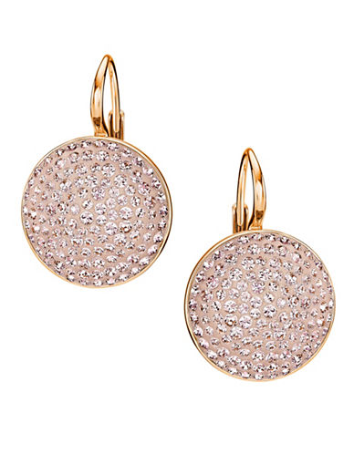 Swarovski Fun Crystal Drop Earrings-ROSE GOLD-One Size