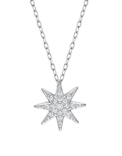Swarovski Fizzy Crystal Rhodium-Plated Pendant Necklace-CRYSTAL-One Size