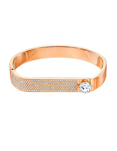 Swarovski Forward Crystal Rose Goldplated Bangle Bracelet-ROSE GOLD-One Size
