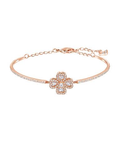 Swarovski Deary Crystal Rose Goldplated Bangle Bracelet-ROSE GOLD-One Size