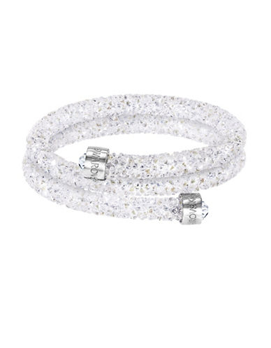 Swarovski Crystaldust Crystal and Stainless Steel Bangle Bracelet-CRYSTAL-One Size