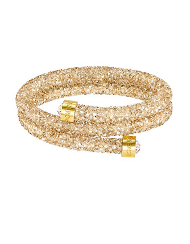 Swarovski Crystaldust Crystal Goldplated Bangle Bracelet-GOLD-One Size