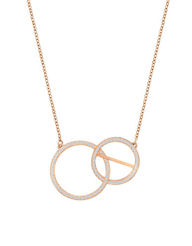 Swarovski Flash Crystal Rose Goldplated Necklace-ROSE GOLD-One Size