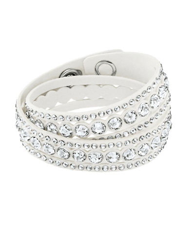 Swarovski Slake Dot Crystal and Stainless Steel Bracelet-WHITE-One Size