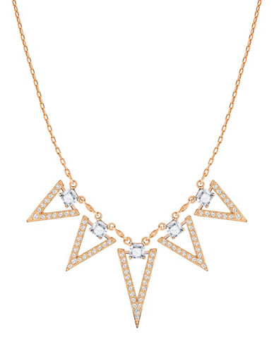 Swarovski Funk Crystal Rose Goldplated Chevron Pendant Necklace-ROSE GOLD-One Size