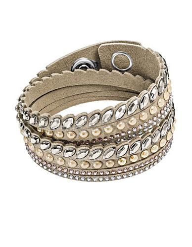 Swarovski Slake Pulse Crystal Bracelet-BEIGE-One Size