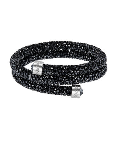 Swarovski Black Crystal Dust Bangle Bracelet-BLACK-One Size
