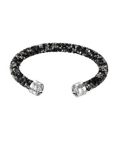 Swarovski Multi-Hued Crystal Dust Cuff Bracelet-BLACK-One Size