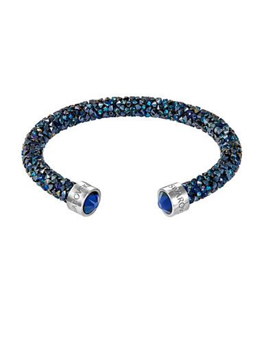 Swarovski Blue Crystal Dust Cuff Bracelet-BLUE-One Size