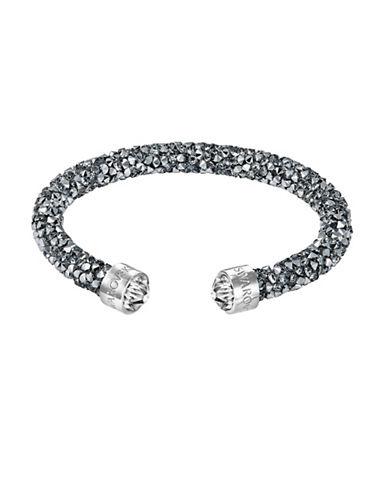Swarovski Chrome-Effect Crystal Dust Cuff Bracelet-GREY-One Size