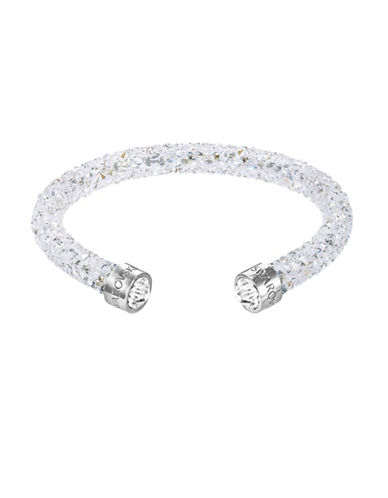 Swarovski Crystal and Stainless Steel Crystaldust Cuff Bracelet-CRYSTAL-One Size