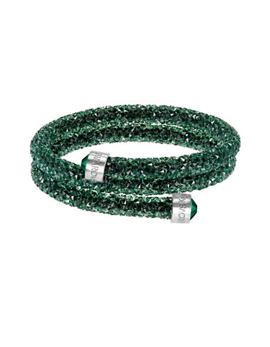 Swarovski Crystal Dust Bangle Bracelet-GREEN-One Size