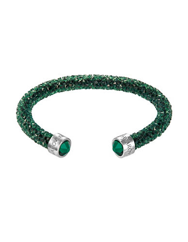 Swarovski Crystal Dust Cuff Bracelet-GREEN-One Size