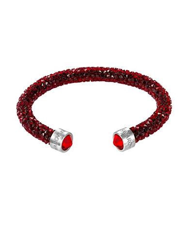 Swarovski Crystal Dust Cuff Bracelet-RED-One Size