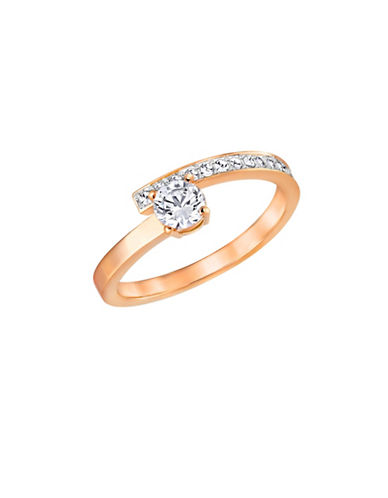 Swarovski Fresh Crystal Rose Gold-Plated Ring-ROSE GOLD-6