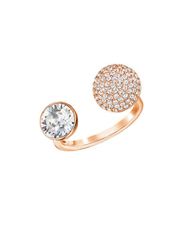 Swarovski Forward Crystal Rose Goldplated Ring-ROSE GOLD-7