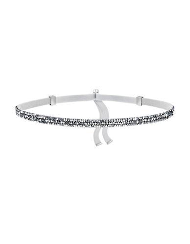Swarovski Crystaldust Crystal Choker Necklace-GREY-One Size