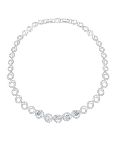 Swarovski Generation Crystal Rhodium-Plated Pave Necklace-SILVER-One Size