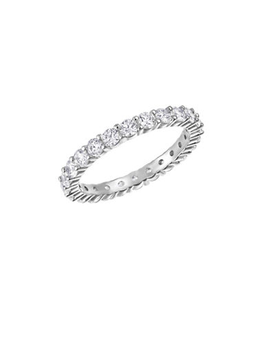 Swarovski Vittore Crystal Rhodium-Plated Ring-WHITE-6