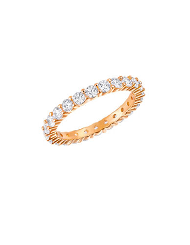 Swarovski Vittore Crystal Rose Goldplated Ring-ROSE GOLD-8