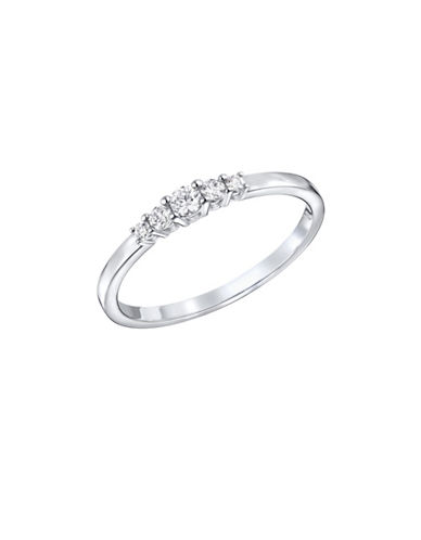 Swarovski Frisson Crystal Rhodium-Plated Ring-CRYSTAL-7
