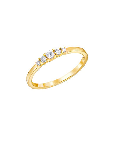 Swarovski Frisson Crystal Goldplated Ring-GOLD-8
