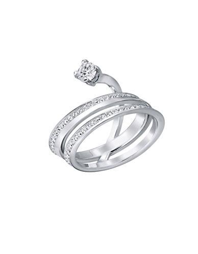 Swarovski Fresh Crystal Rhodium-Plated Ring-CRYSTAL-7