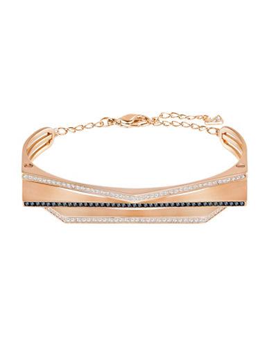 Swarovski Dual-Tone Swarovski Crystal Rose Goldplated Geometric Bracelet-ROSE GOLD-One Size