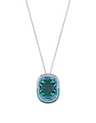 Swarovski Gaia Swarovski Crystal and Crystal Pointiage Pendant Necklace-BLUE-One Size