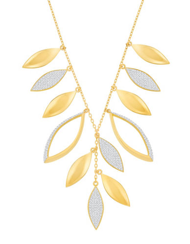 Swarovski Grape Crystal Goldplated Pointiage Necklace-GOLD-One Size