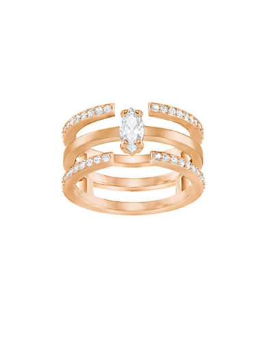 Swarovski Rose Goldplated Stackable-in-One Ring-PINK-7