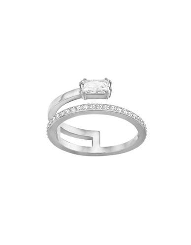 Swarovski Silvertone Stackable-in-One Ring-SILVER-7