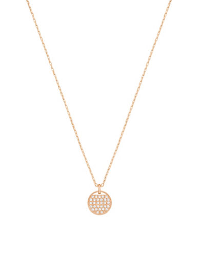 Swarovski Ginger Swarovski Crystal Rose Goldplated Pendant Necklace-ROSE GOLD-One Size