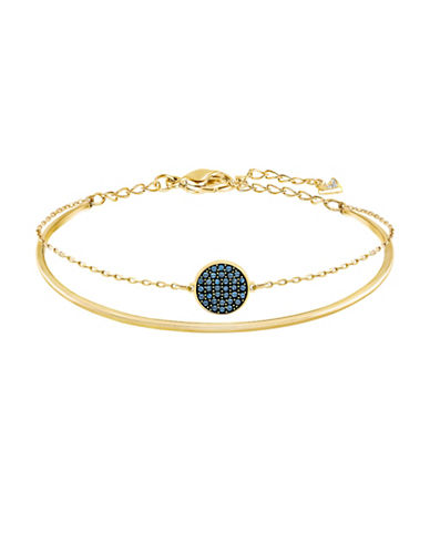 Swarovski Ginger Swarovski Crystal Goldplated Layered Bangle-BLUE-One Size