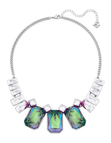 Swarovski Gisele Crystal Palladium-Plated Pointiage Necklace-GREEN-One Size